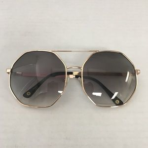 Anthropologie ett:twa Octagon Rose Gold Sunglasses